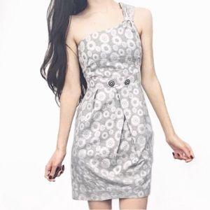 Anthropologie Floral One Shoulder Dress!